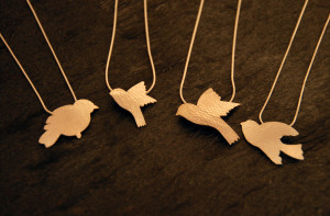 Flying bird earrings £39