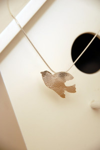 Flying bA range of Sterling silver Bird pendantsird pendant sterling silver embossed with a lace pattern £59